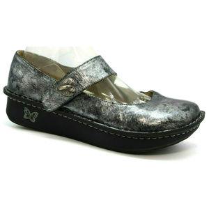Alegria Womens Paloma Pewter Black Shoes Size 39 9